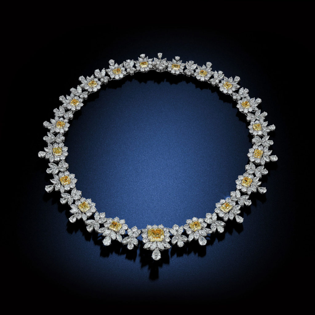 Fabulous 103.30 Queen Elisabeth diamond necklace by David Rosenberg of Rosenberg Diamonds & Co.