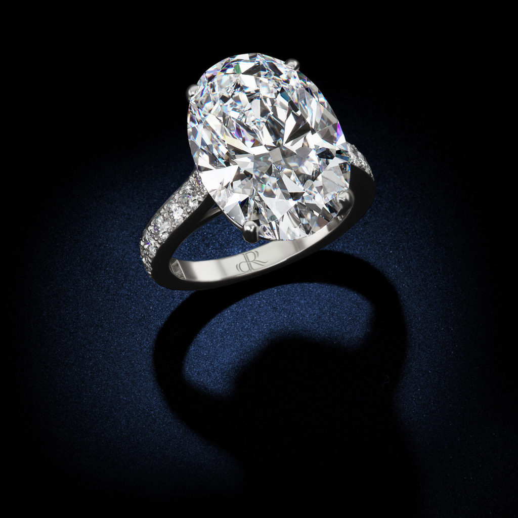 18 88 Carat D Flawless Type Iia Oval Shape Diamond Ring
