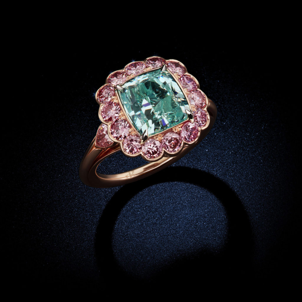 cushion-cut-fancy-intense-bluish-green-cushion-diamond-ring