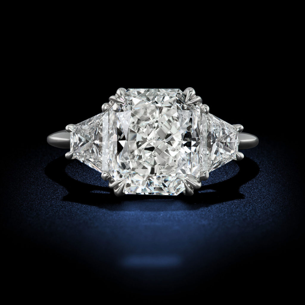 Stunning 4.12 Carat F VS1 Diamond Engagement Ring GIA Certified By David Rosenberg of Rosenberg Diamonds & Co.