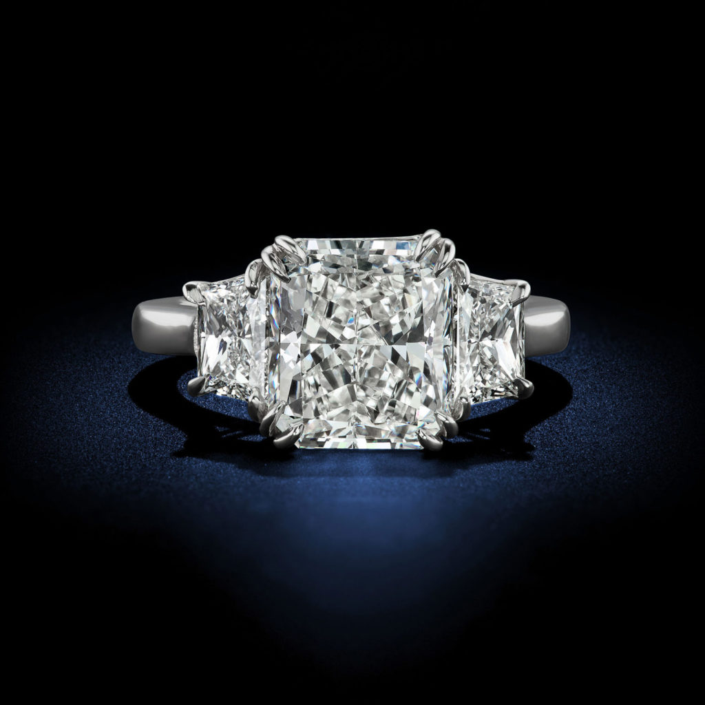 art platinum deco and engagement carat ring diamond