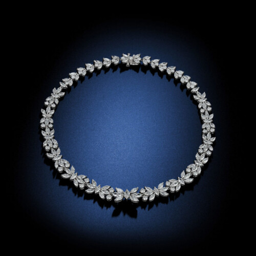 Round-Brilliant-Marquise-Shape-Diamond-Necklace