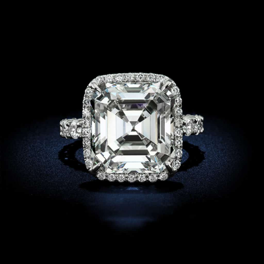 antique rings platinum art deco home asscher cut diamond engagement in ring jewellery product gia