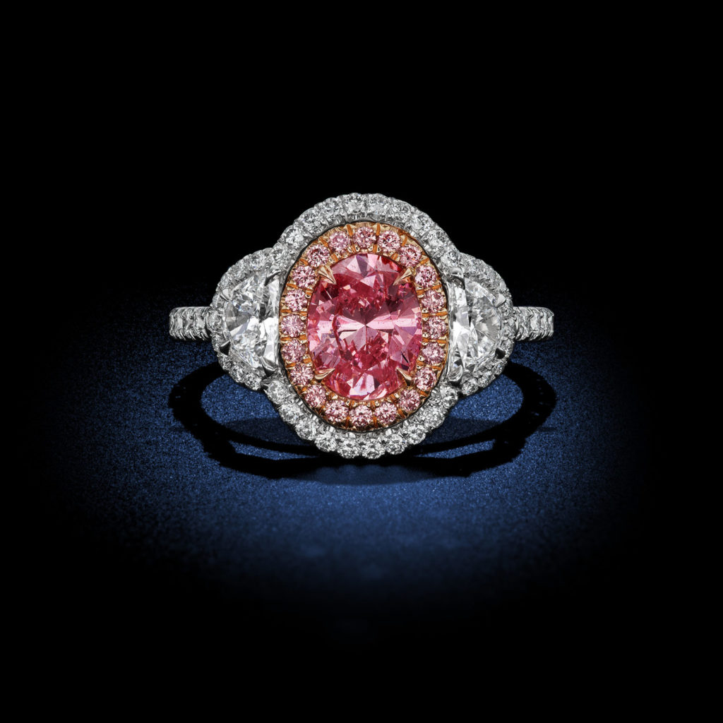 Argyle Pink Oval Diamond Ring