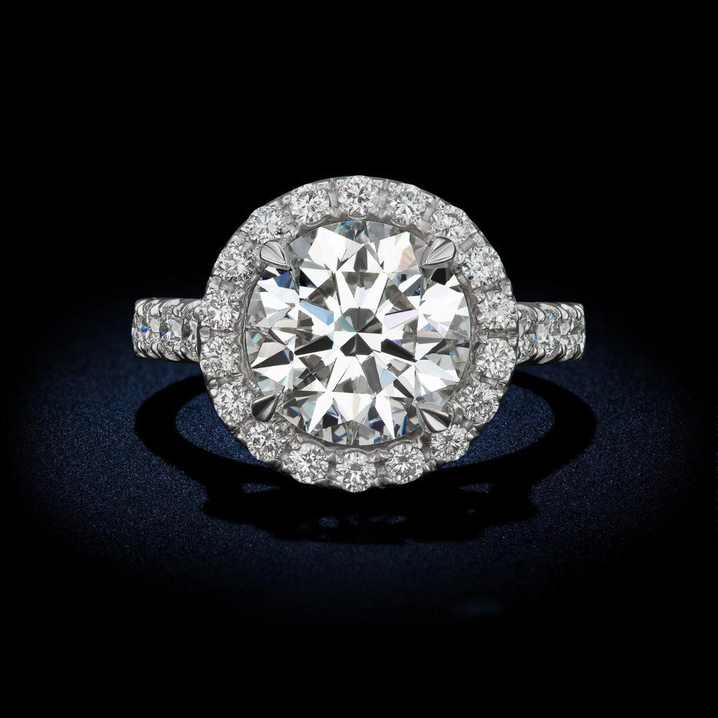 4 08 Carat E Vvs1 Round Brilliant Diamond Ring Rosenberg
