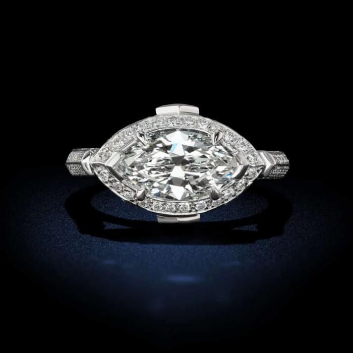 white-marquise-shaped-diamond-engagement-ring