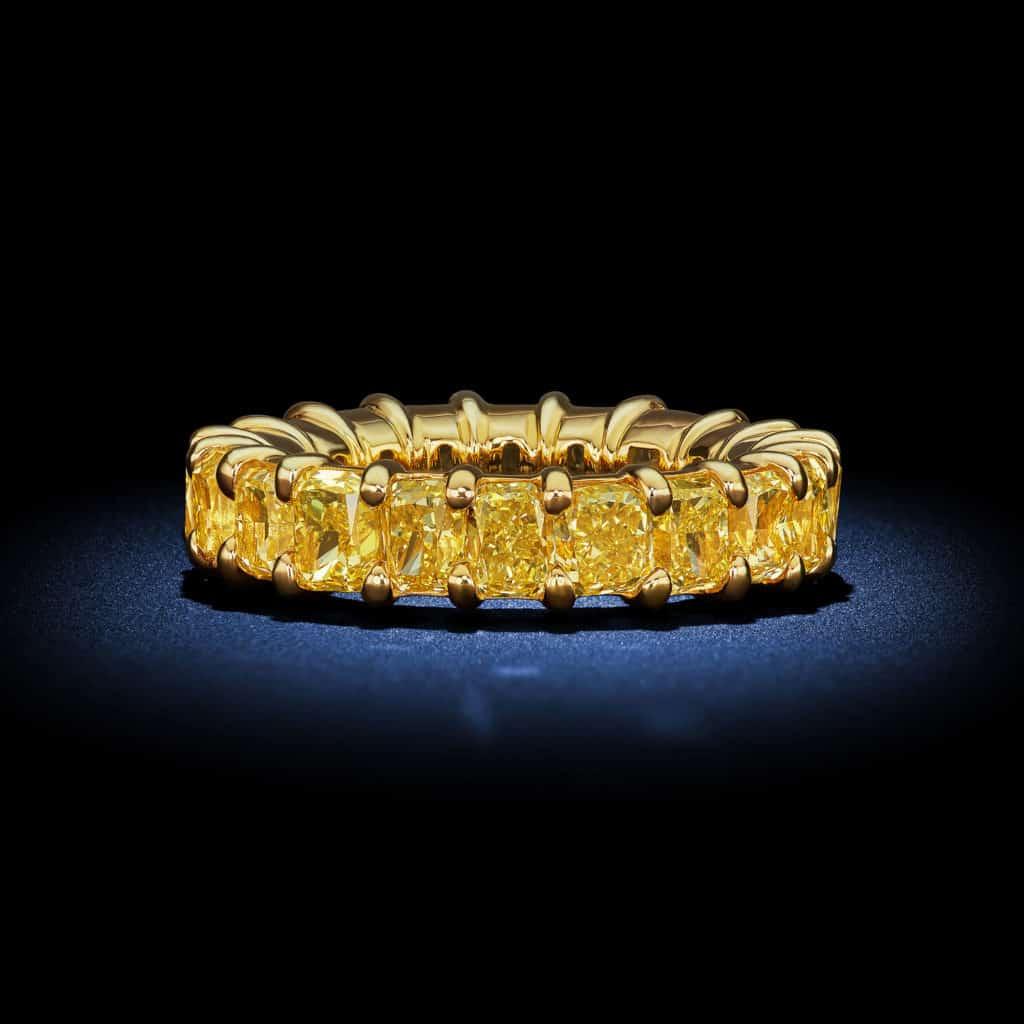 radiant-cut-fancy-intense-yellow-diamond-eternity-wedding-band