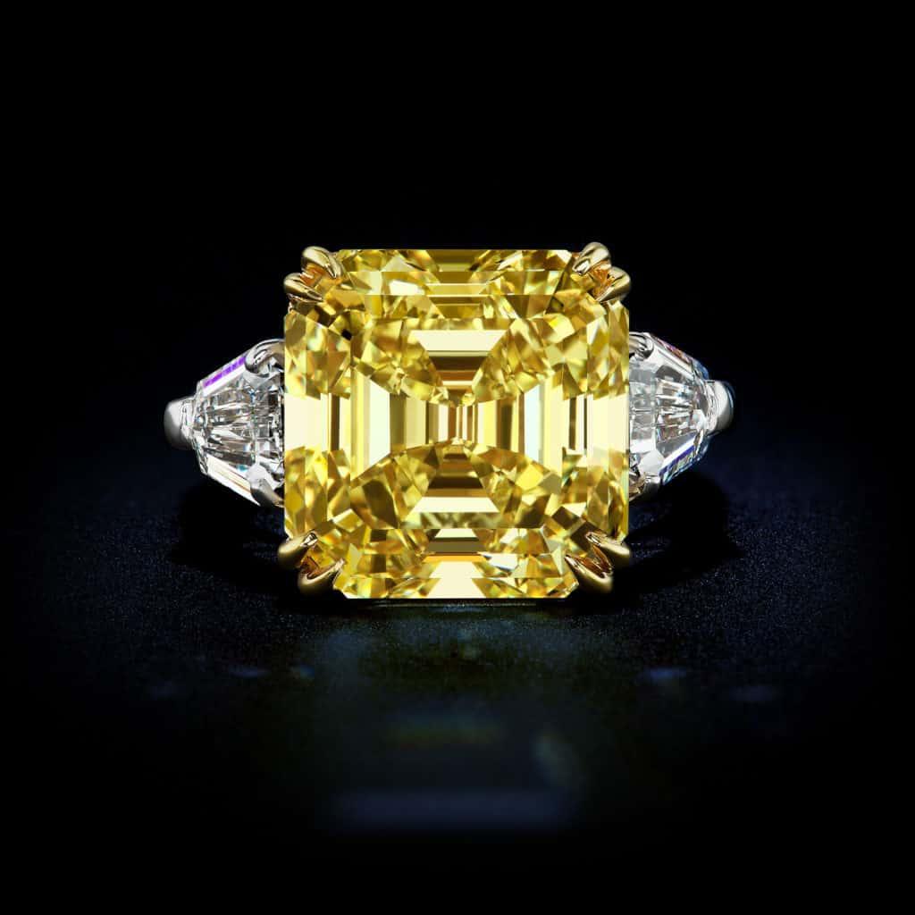 large-natural-fancy-vivid-yellow-diamond-asscher-cut-diamond-ring