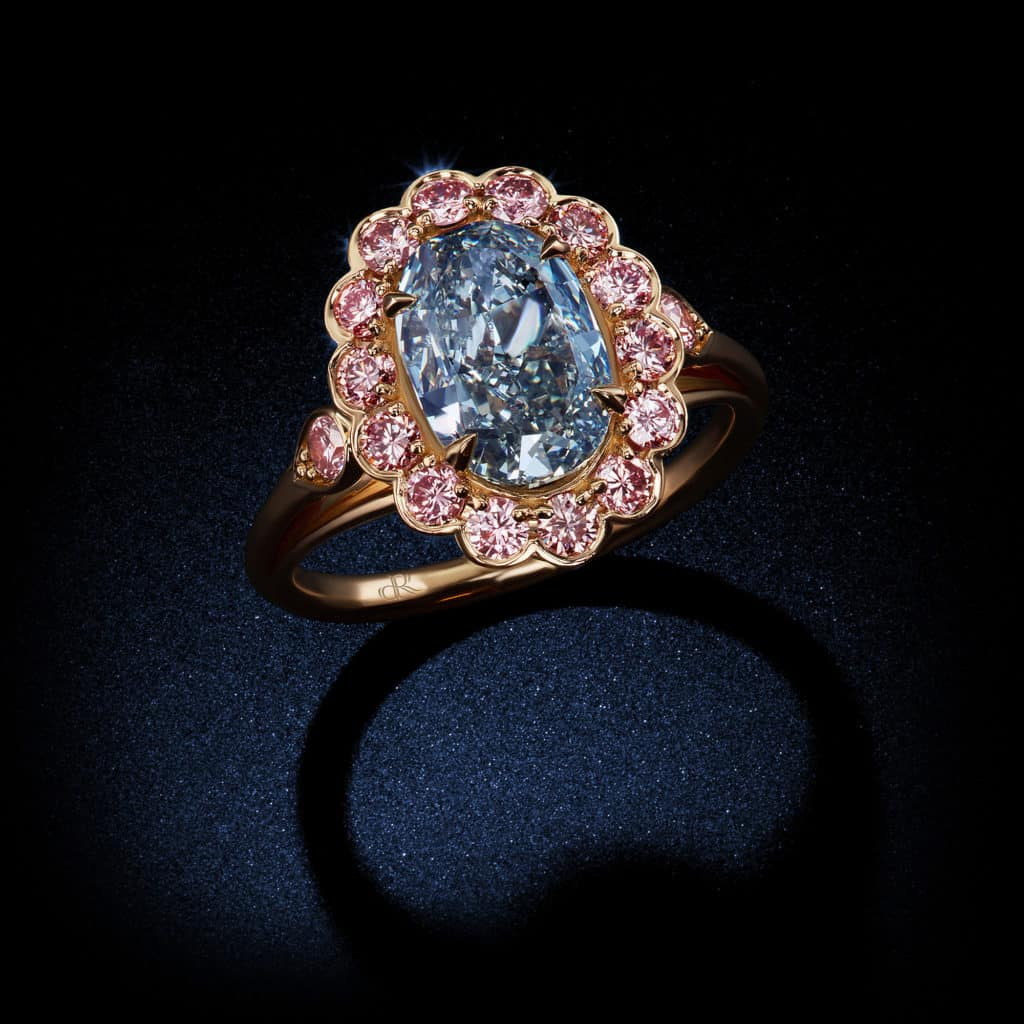 Engagement Rings With Pink Diamond Side Stones