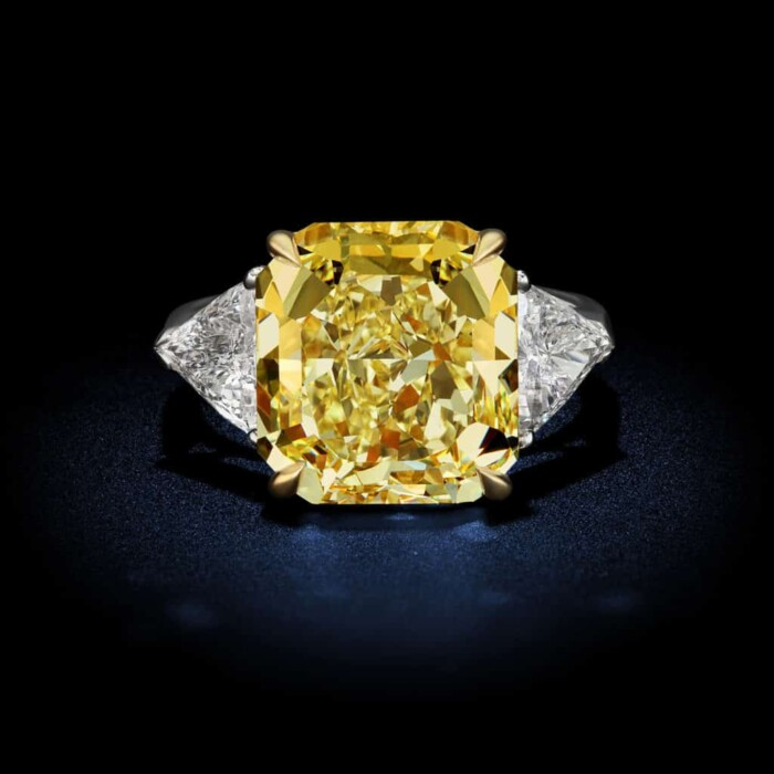 large-natural-fancy-color-yellow-radiant-cut-diamond-ring