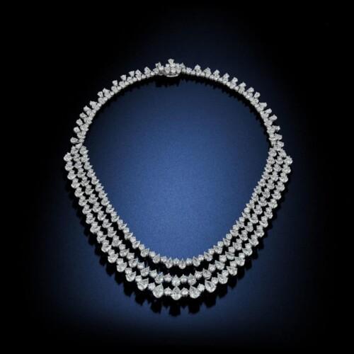 three-tier-pear-shape-diamond-necklace